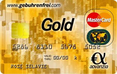 Advanzia Gebührenfrei Mastercard Gold: So sieht sie aus!