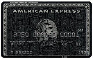 Schwarze American Express Kreditkarte: Voraussetzungen, Kosten & mehr