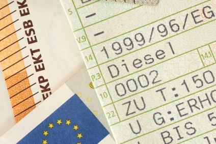 Fahrzeugschein für Ihr Auto