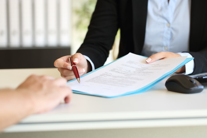 Unterschrift für Hypothekendarlehen