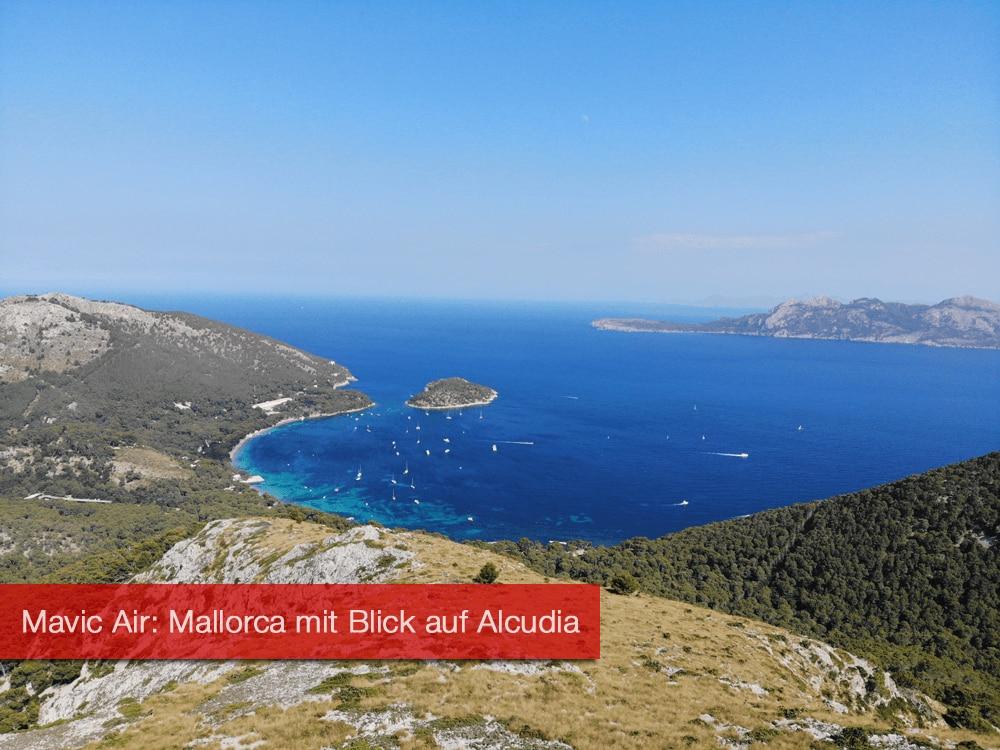 Mavic Air: Mallorca mit Blick auf Alcudia