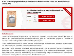 Beispiel Sponsored Produkt in Produktbox