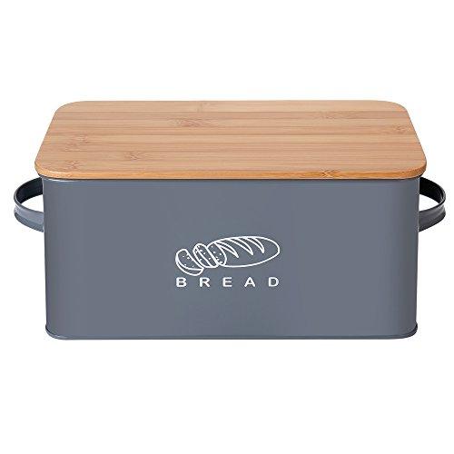 Brotkasten Edelstahl Brotbox Brotkaste mit Rolldeckel groß
