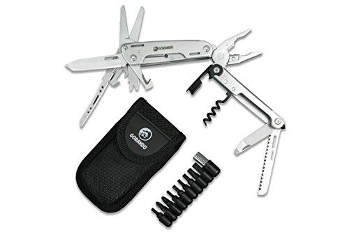 Universal 24 in 1 Edelstahl Multi-Werkzeug Schlüssel Geformte Tasche