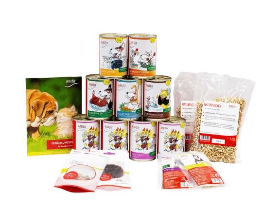 """ANIfit Schnupperpaket Hundefutter + 10% Gutschein """"gesund10"""" oder gratis Versand mit """"kostenfrei"""" für Neukunden"""