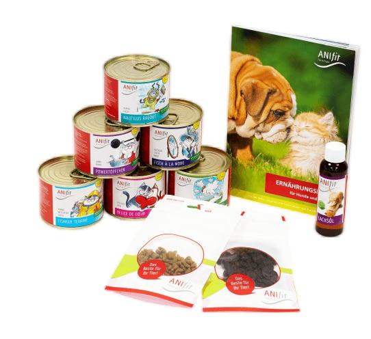 Katzenfutter-Schnupperpaket mit Lachsöl und Ernährungsfibel