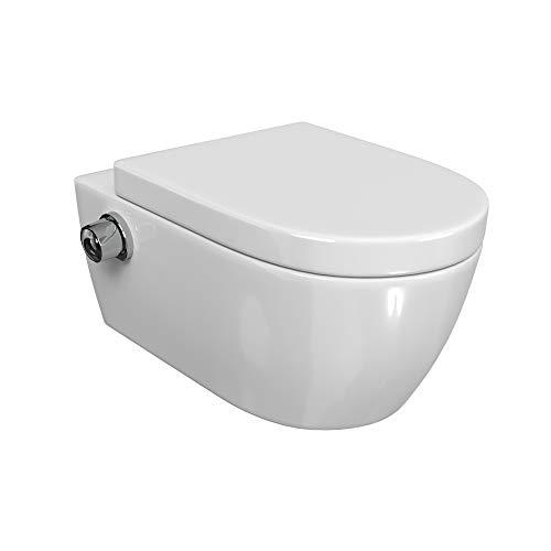 Elektrische Toilettensitz Sitzheizung Automatische Dusch WC Aufsatz Bidet Weiß