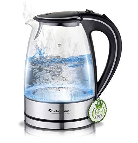 4 FARBEN Wasserkocher Teekocher Wasser Kocher Edelstahl 1,8L Kabellos 360°