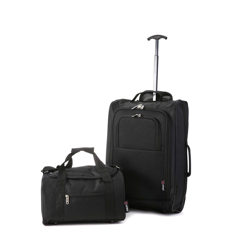 5 Cities Handgepäck-Koffer-Set inklusive Tragetasche