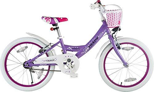12 Zoll Kinderfahrrad Fahrrad Mädchen Kinderrad Mädchenfahrrad Rad lila weiss