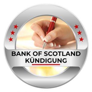 Bank of Scotland kündigen