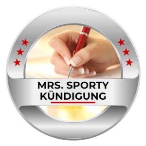 Mrs. Sporty kündigen