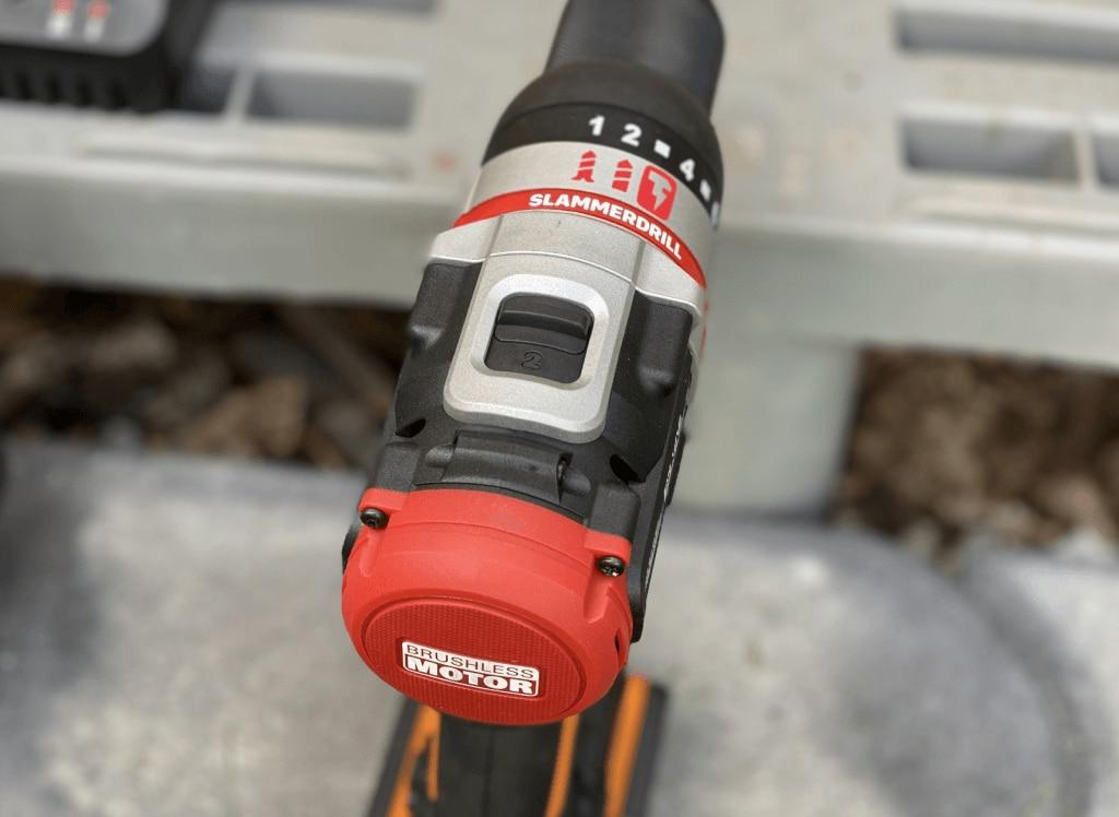 Worx WX354 Schlagbohrhammer SlammerDrill Geschwindigkeitsstufen