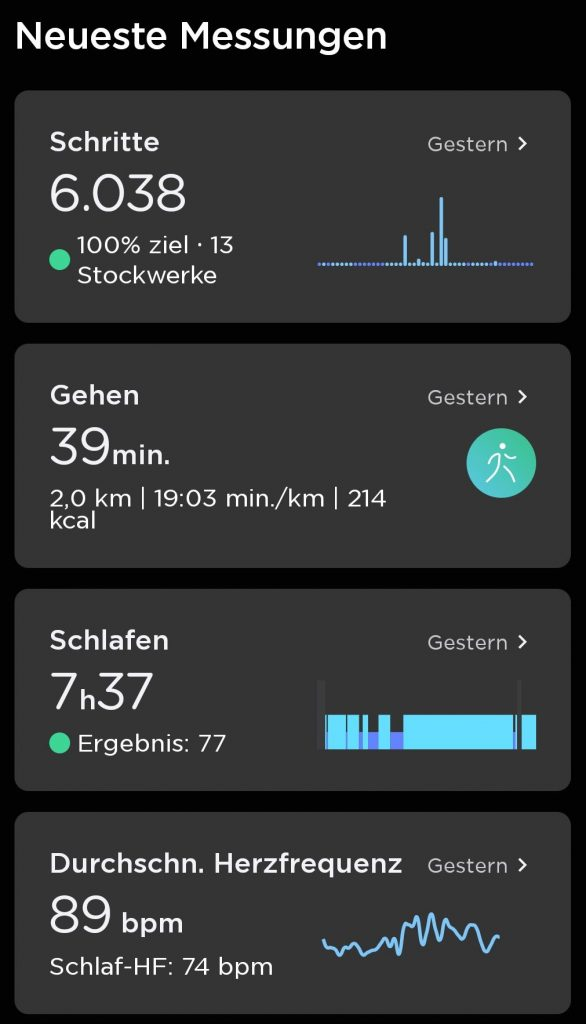ScanWatch Withings App Health Mate